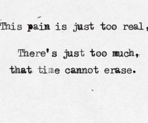 pain, erase, and quote image