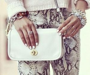 fashion, bag, and nails image