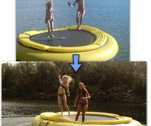 best friends, trampoline, and girls image