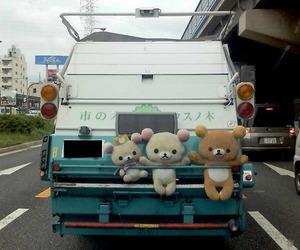 car, kawaii, and rilakkuma image