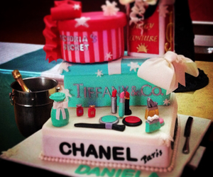cake, chanel, and cosmetics image