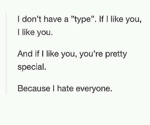 love, hate, and type image