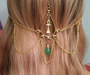 hair, gold, and jewellery image