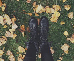 alternative, autumn, and boots image