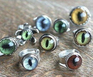 eyes, ring, and cat image