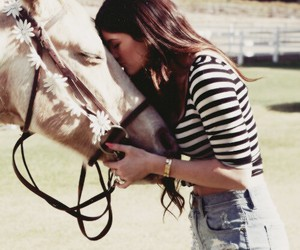 horse, kylie jenner, and flowers image