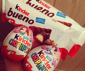 kinder, chocolate, and delicious image