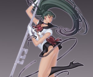 sailor pluto and setsuna meioh image