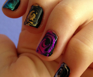 art, gold, and water marble image