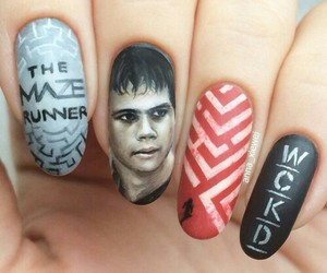nails, thomas, and the maze runner image