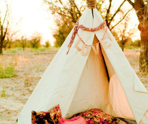 tent, nature, and teepee image
