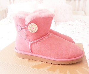 pink, uggs, and girl image