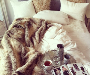bedroom, fashion, and bed image