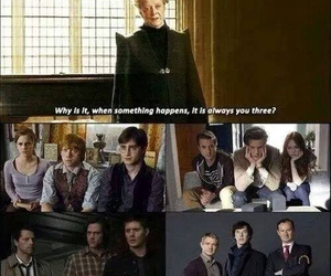 harry potter, doctor who, and sherlock image