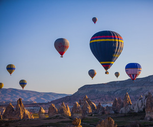 balloons, cappadocia, and colorful image