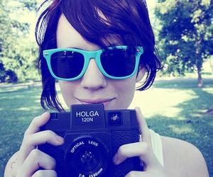 girl, camera, and holga image