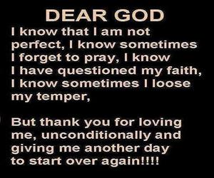 dear god, loving me, and another day image