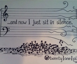 music, silence, and twenty one pilots image
