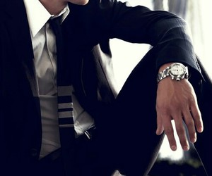 suit, man, and sexy image