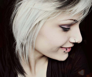 piercing, girl, and make up image