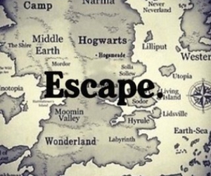 escape, hogwarts, and narnia image