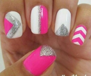 glitter, nails, and prettyinpink image