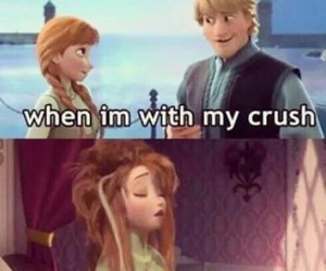 crush, frozen, and funny image