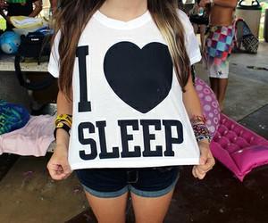 sleep, shirt, and t-shirt image