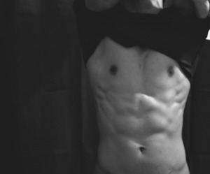 abs, black, and guy image