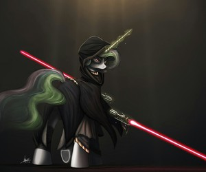 MLP, princess celestia, and star wars image