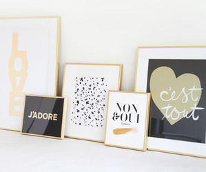 love, decor, and gold image