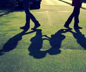 love, shadow, and couple image
