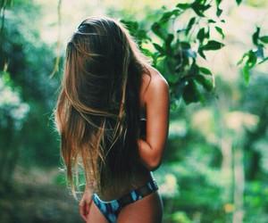 girl, hair, and bikini image