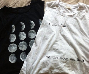 fashion, moon, and shirt image