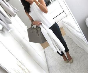 bag, brown, and girls image
