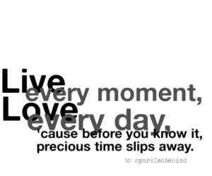 live, love, and moment image