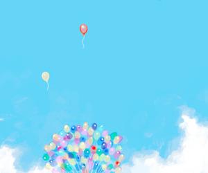 anime, balloons, and kawaii image