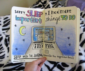 tumblr, wreck this journal, and sleep image