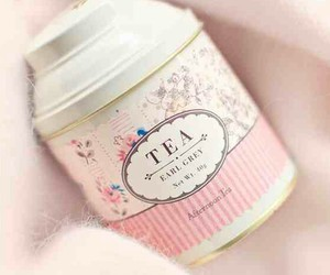girly, packaging, and tea image