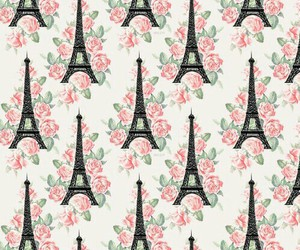 eiffel, flowers, and pink image