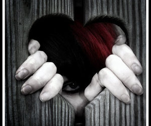 cute girl, emo, and heart image