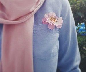 flower, girl, and hijab image