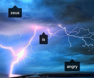 Zeus, angry, and blue image