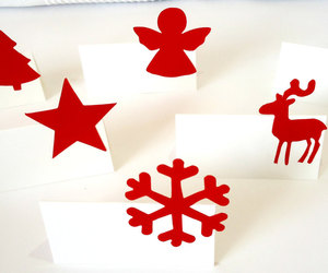 Place cards and christmas cards image