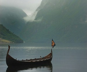 boat, cold, and fjord image