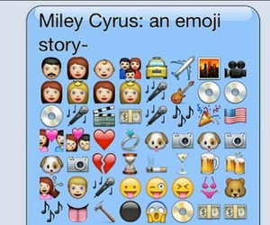 miley cyrus, emoji, and story image