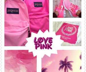 beach, pink, and school image