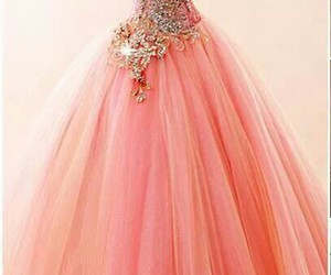 dress, orang, and princess image