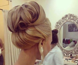 beauty, bun, and fashion image