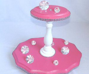 cupcake tower, candy stand, and bridal shower decor image